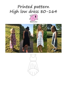 Made by Runi´s High low dress paket, barn + dam