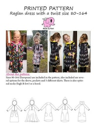 Made by Runi´s Raglan dress with a twist paket, barn + dam