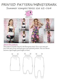 Made by Runi´s Summer romper/dress paket, barn + dam