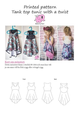 Made by Runi´s Tank top tunic with a twist paket, barn + dam
