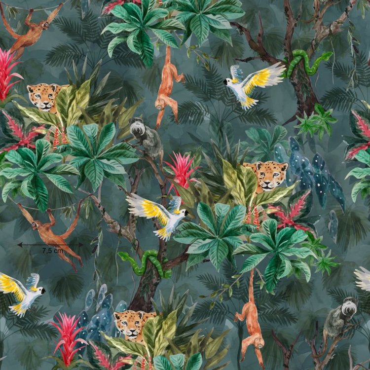 Go Jungle poplin (vävt tyg)
