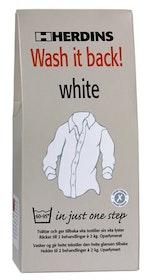 Wash it back! White