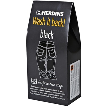 Wash it back! Black