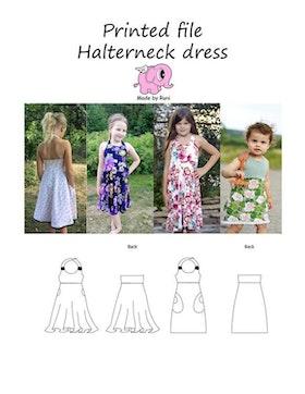 Made by Runi´s Halterneck dress barn stl. 80-164