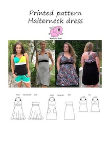 Made by Runi´s Halterneck dress dam stl 34-58