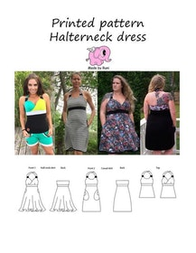 Made by Runi´s Halterneck dress dam stl 34-58