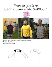 Made by Runi´s Basic Raglan herr, stl. S-XXXXL