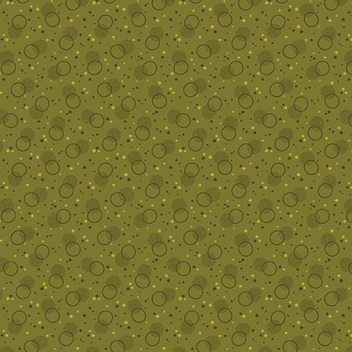 Homestead Bubble green (vävd bomull)