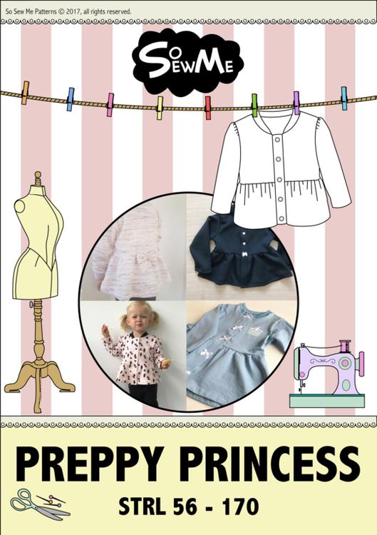 So Sew Me's Preppy Princess stl. 56 - 170