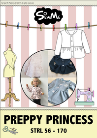 So Sew Me's Preppy Princess stl. 56 - 170