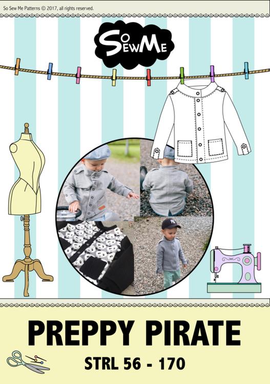 So Sew Me's Preppy Pirate stl. 56 - 170
