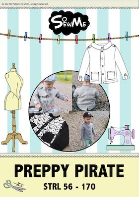 So Sew Me´s Preppy Pirate stl. 56 - 170