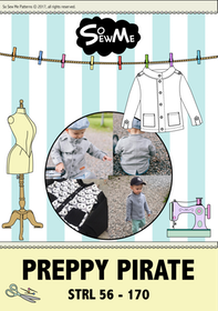 So Sew Me's Preppy Pirate stl. 56 - 170