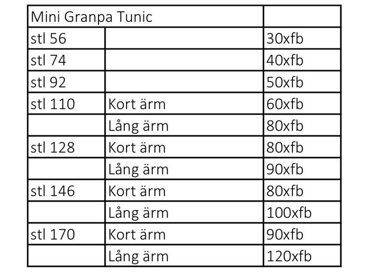 So Sew Me's Mini Granpa Tunic stl. 56 - 170