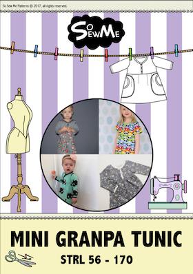 So Sew Me´s Mini Granpa Tunic stl. 56 - 170