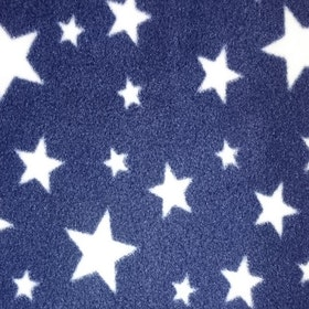 Vita stjärnor, blåbakgrund