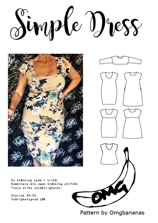 OMG Bananas Simple Dress stl. 32 - 54