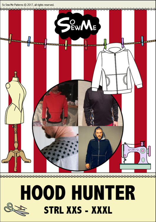 So Sew Me's Hood Hunter stl. XXS - XXXL
