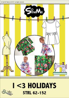 So Sew Me´s I love Holidays stl. 62 - 152