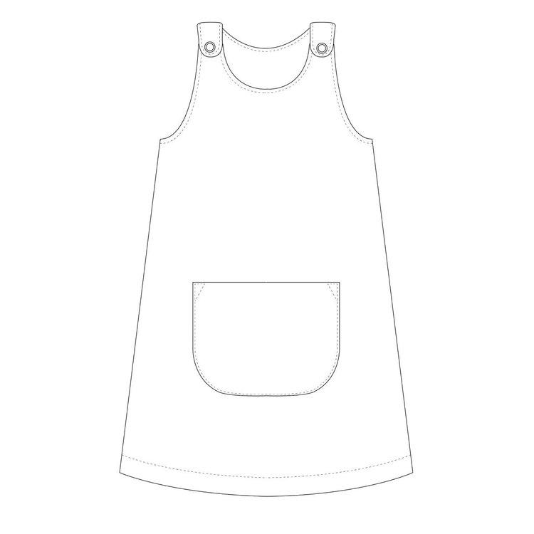 So Sew Me's Karlssons Dungaree Dress Strl 62-164