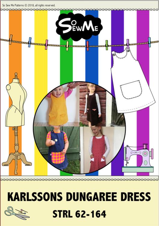 So Sew Me´s Karlssons Dungaree Dress Strl 62-164