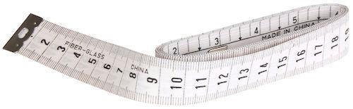 Måttband 150 cm vitt