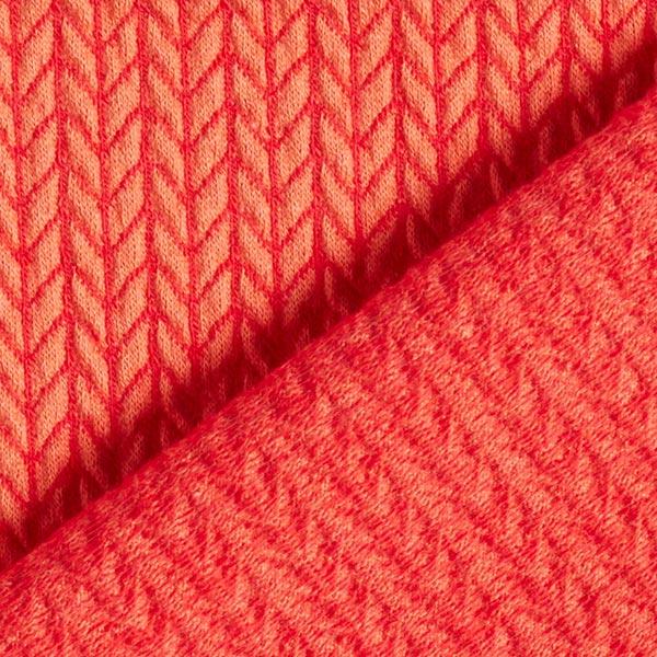 Hamburger Liebe Big knit Korall 1 meters bit Jaquard