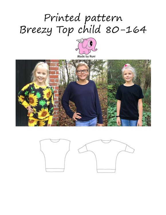 Made by Runi´s Breezy Top barn, stl. 80 - 164