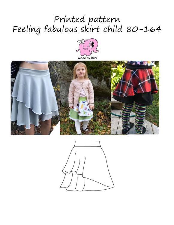 Made by Runi´s Feeling fabulous skirt barn, stl. 80 - 164