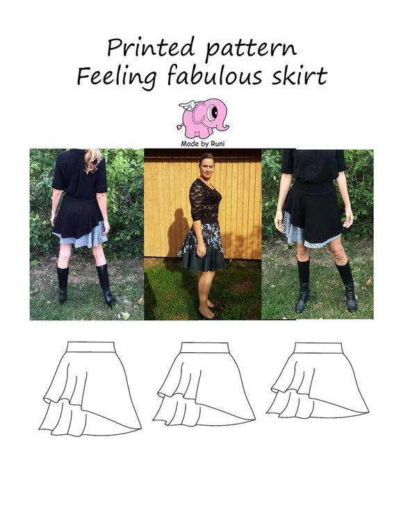 Made by Runi´s Feeling fabulous skirt dam, stl. 34 - 54