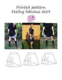 Made by Runi´s Feeling fabulous skirt dam, stl. 34 - 54