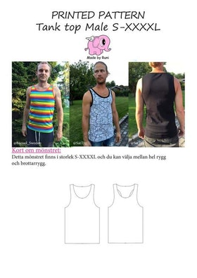 Made by Runi´s Every day tank top herr, stl. S-XXXXL