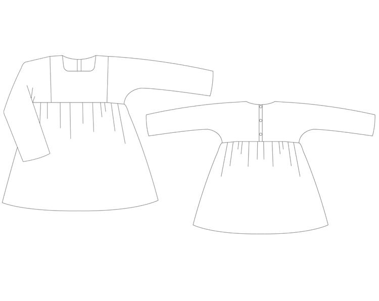 So Sew Me's Twinkle Twinkle Tunic stl. 56 - 140