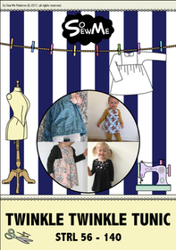 So Sew Me´s Twinkle Twinkle Tunic stl. 56 - 140