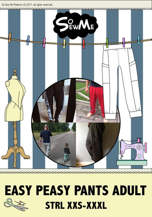 So Sew Me´s Easy Peasy Pants mönster paket