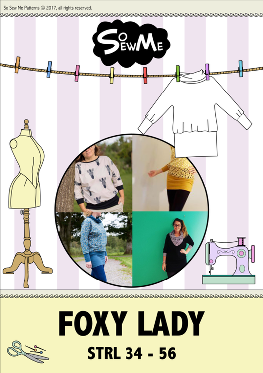 So Sew Me's Foxy Lady & Baby mönster paket