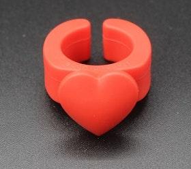 Hemlines Trådskärare ring med hjärta
