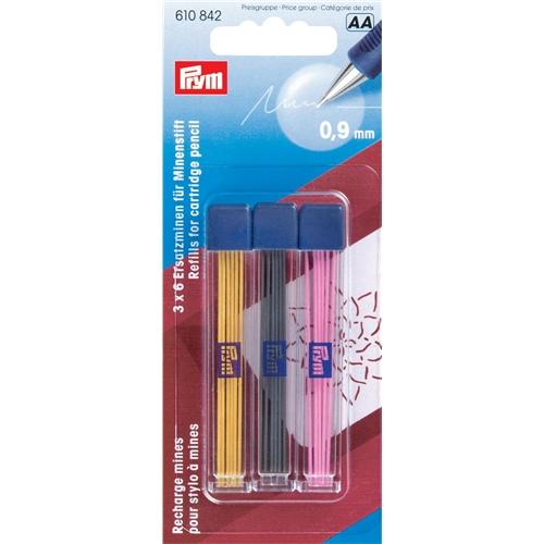 Prym markeringsstift Gul, svart och rosa 0,9 mm