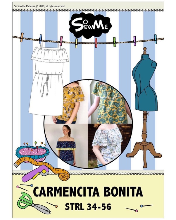 So Sew Me's Carmencita Bonita stl. 34 - 56