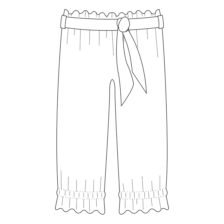 So Sew Me's Ruffle Pants stl. 56 - 152