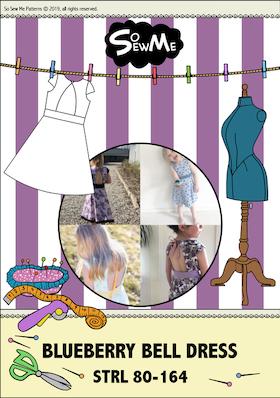 So Sew Me's Blueberry Bell Dress stl. 56 - 152