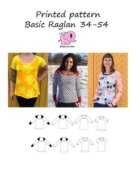 Made by Runi´s Basic Raglan dam, stl. 34-54