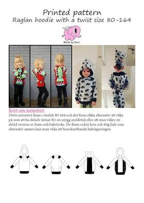 Made by Runi´s Raglan hoodie with a twist barn stl. 80-164