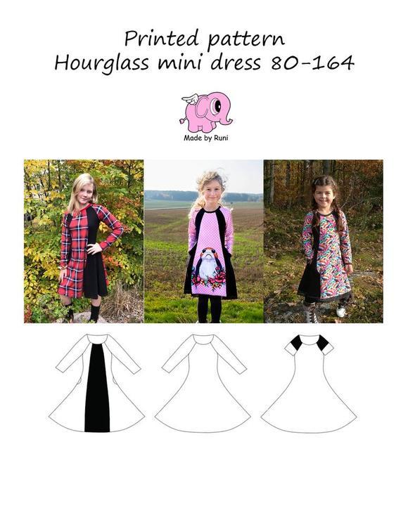 Made by Runi´s Hourglass mini dress barn stl. 80-164