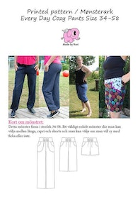 Made by Runi´s Every day cozy pants dam, stl. 34 - 58