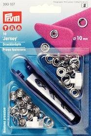 Prym Tryckknappar för jersey 10 mm Silverfärgad ring
