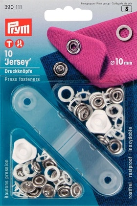 Prym Tryckknappar för jersey 10 mm Vitfärgad ring