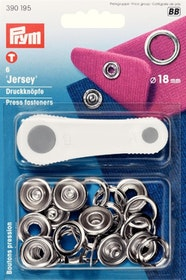 Prym Tryckknappar för jersey 18 mm Silverfärgad ring