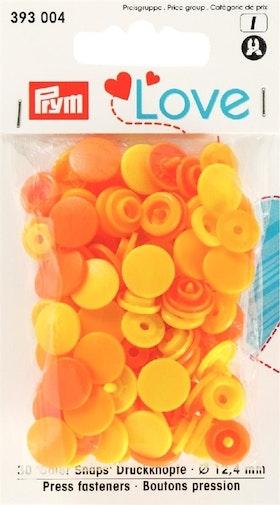Prym Love Color snaps 12,4 mm Gula