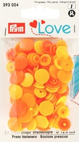 Prym Love Color snaps 12,4 mm Gula